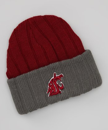 Crimson & Gray Washington State Stripe Beanie
