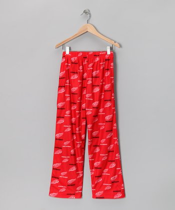 Red Detroit Red Wings Pajama Pants - Kids