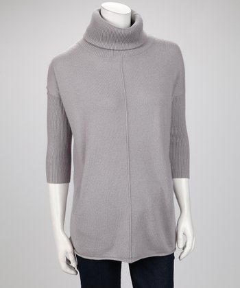 Heather Cashmere Relaxed Turtleneck Sweater