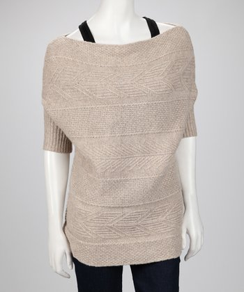 Hazelnut Cashmere Pentagon Sweater
