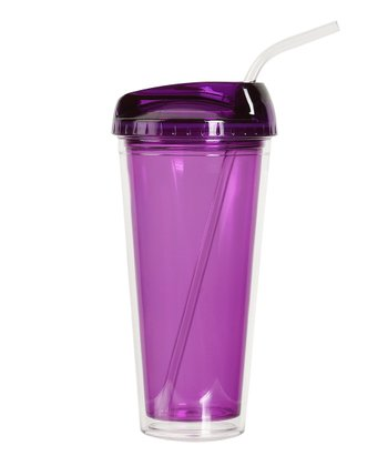 Purple Deluxe Double-Walled Tumbler