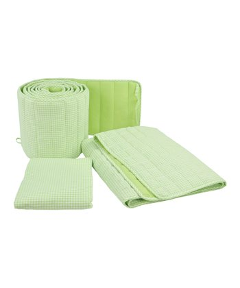 Tadpoles Green Gingham Crib Bedding Set