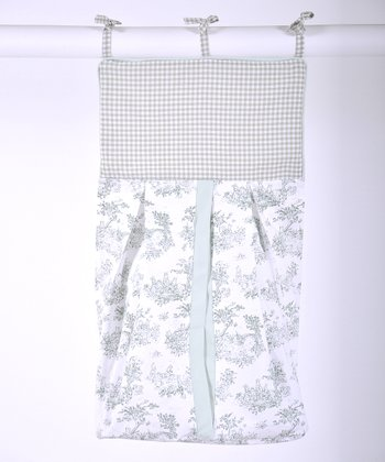 Sage Toile Diaper Stacker