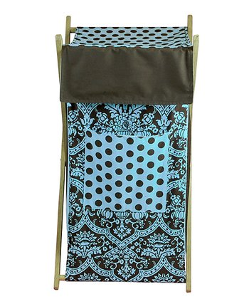 Blue & Brown Damask Hamper