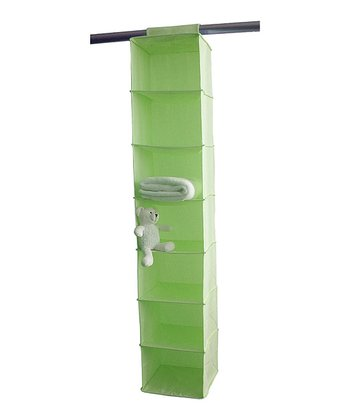 Green Seven-Shelf Closet Organizer