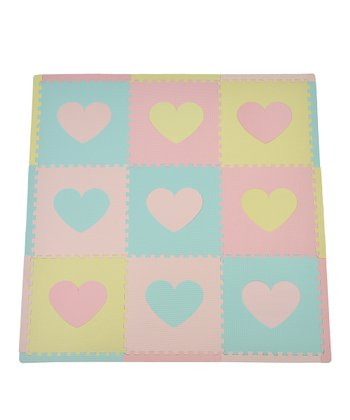 Pastel Heart Small Play Mat Set