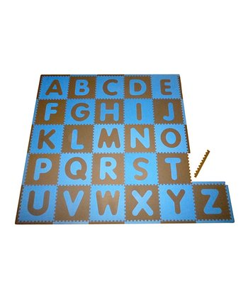 Blue & Brown Alphabet Play Mat Set
