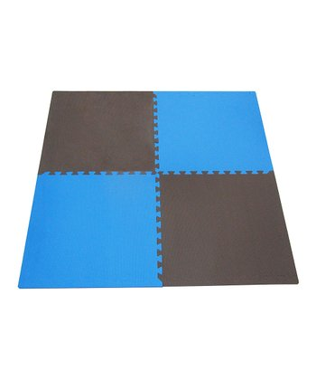 Blue & Brown Play Mat Set