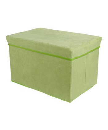 Green Rectangular Storage Bin Stool