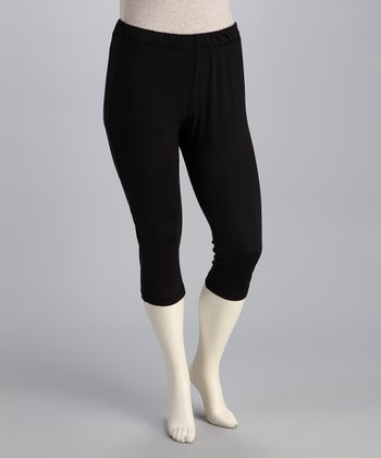 Black Taffy Capri Pants - Plus