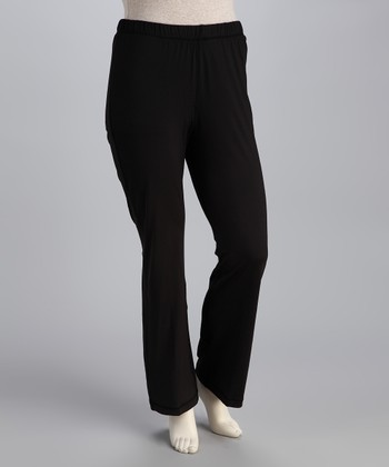 Black Bootcut Yoga Pants - Plus