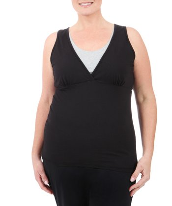 Black Double-Layer Tank - Plus