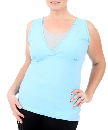 Blue Double-Layer Tank - Plus