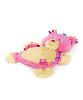 Pink Tags 'N' Snuggles Bear Play Mat