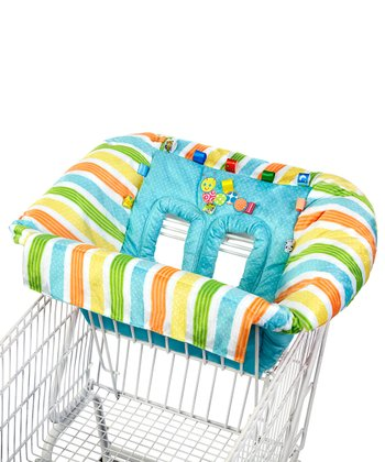 Blue Stripe Caterpillar Plush Cart Cover