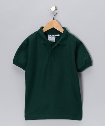 Hunter Green Back To School Polo - Boys