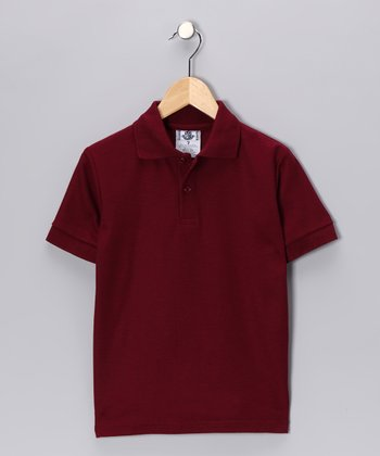 Burgundy Back To School Polo - Boys