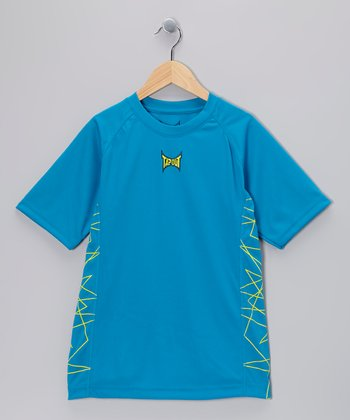 Turquoise Core Belief Fitted Tee - Boys