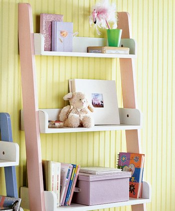 Pink & Soft White Four-Tier Shelf