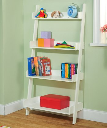 Soft White Four-Tier Shelf