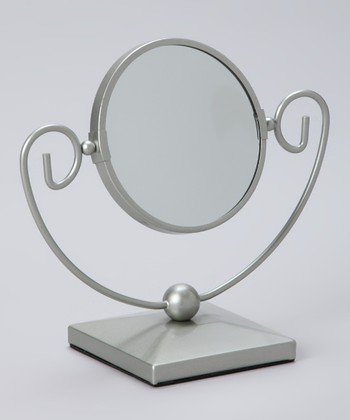 Satin Nickel Art Deco Mirror