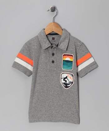 Heather Gray Surf Patrol Polo - Infant, Toddler & Boys