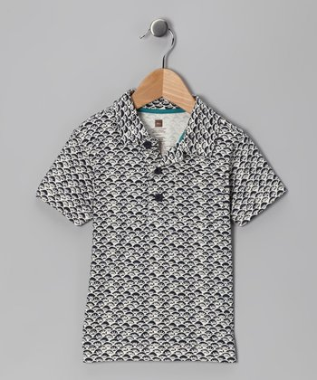 Indigo Waves Batik Polo - Infant
