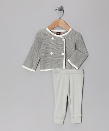 Gravel Double-Breasted Cardigan Gift Set - Infant