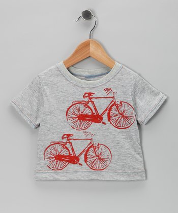 Team Chipmunk Gray Vintage Bike Tee - Toddler & Girls