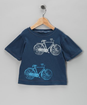Team Chipmunk Navy Vintage Bike Tee - Toddler & Girls