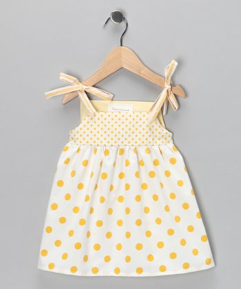 Yellow Polka Dot Gidget Dress - Infant, Toddler & Girls