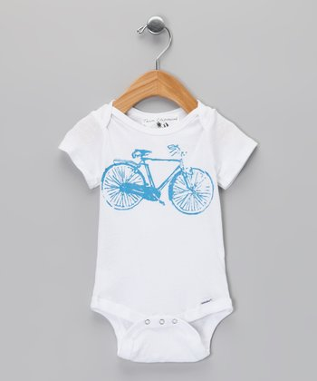Team Chipmunk White Bike Bodysuit - Infant