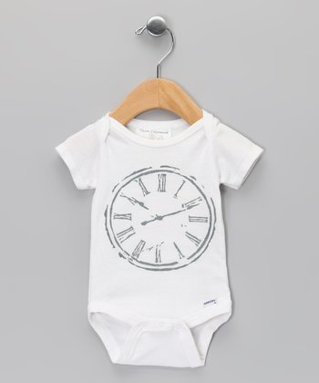 Team Chipmunk Team Chipmunk White Clock Bodysuit - Infant