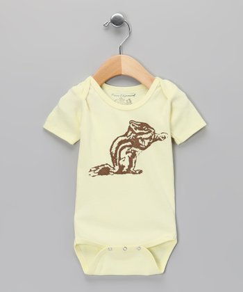 Team Chipmunk Yellow Chipmunk Bodysuit - Infant