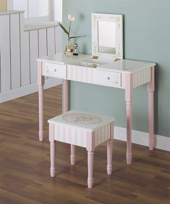 Design Bouquet Vanity Table & Stool