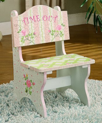 Crackled Rose 'Time Out' Chair