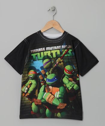 Black 'Teenage Mutant Ninja Turtles' Graphic Tee - Boys