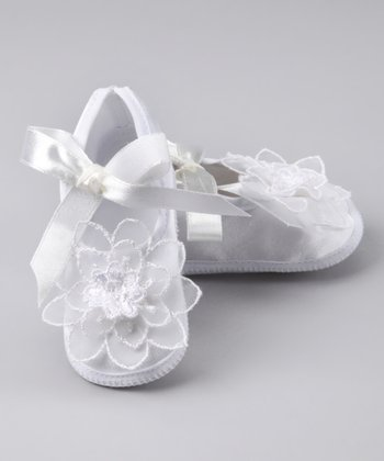 White Christening Booties