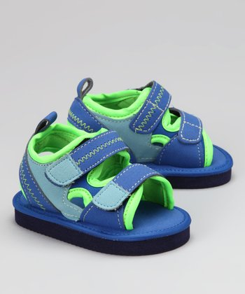 Blue & Green Mesh Sandal