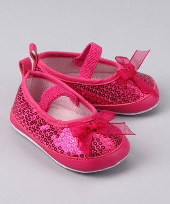 Fuchsia Sequin Booties