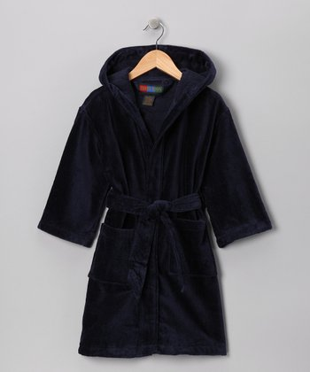 Navy Pocket Robe - Kids