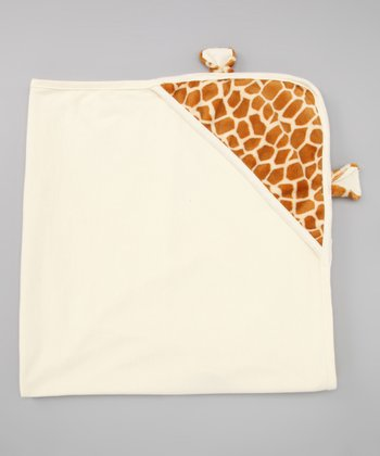 Ivory Giraffe Hooded Blanket