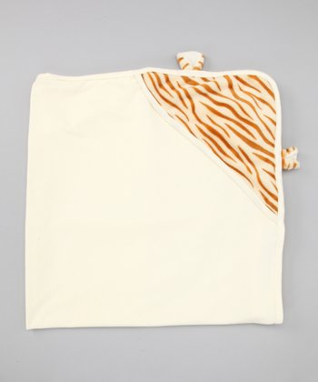 Ivory Tiger Hooded Blanket