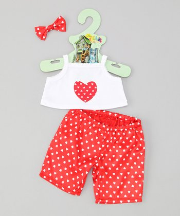 Red 15''-Doll Pajama Outfit