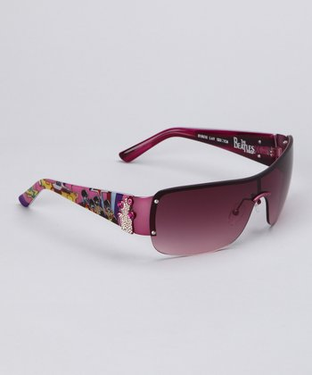 Pink Frameless Sunglasses