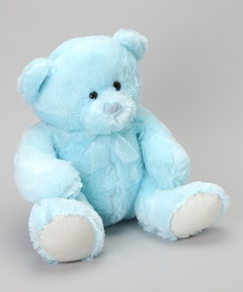 Blue Jumbo Baby Plush Bear