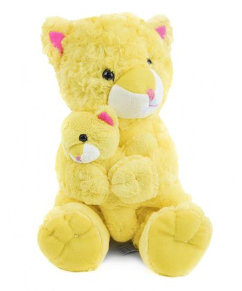 Beverly Hills Teddy Bear Co. Swirl Cat & Baby Plush Toy
