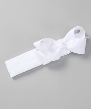 White Bow Stretch Headband