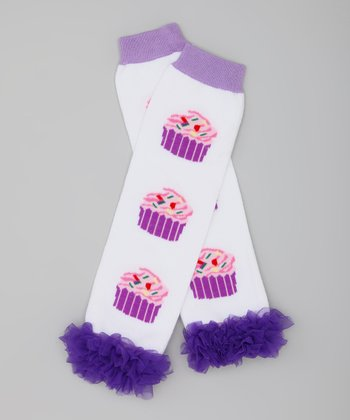 Purple Cupcake Leg Warmers