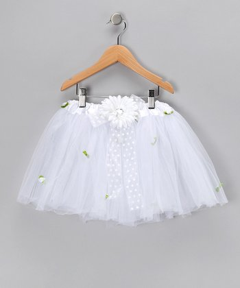 White Daisy Tutu - Toddler & Girls
